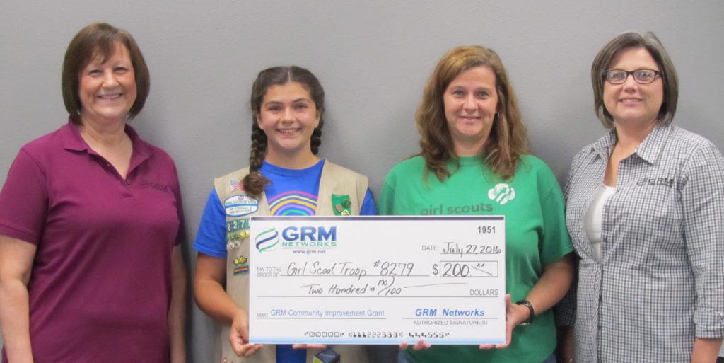 Girl Scout Troop 8279 grant 2016