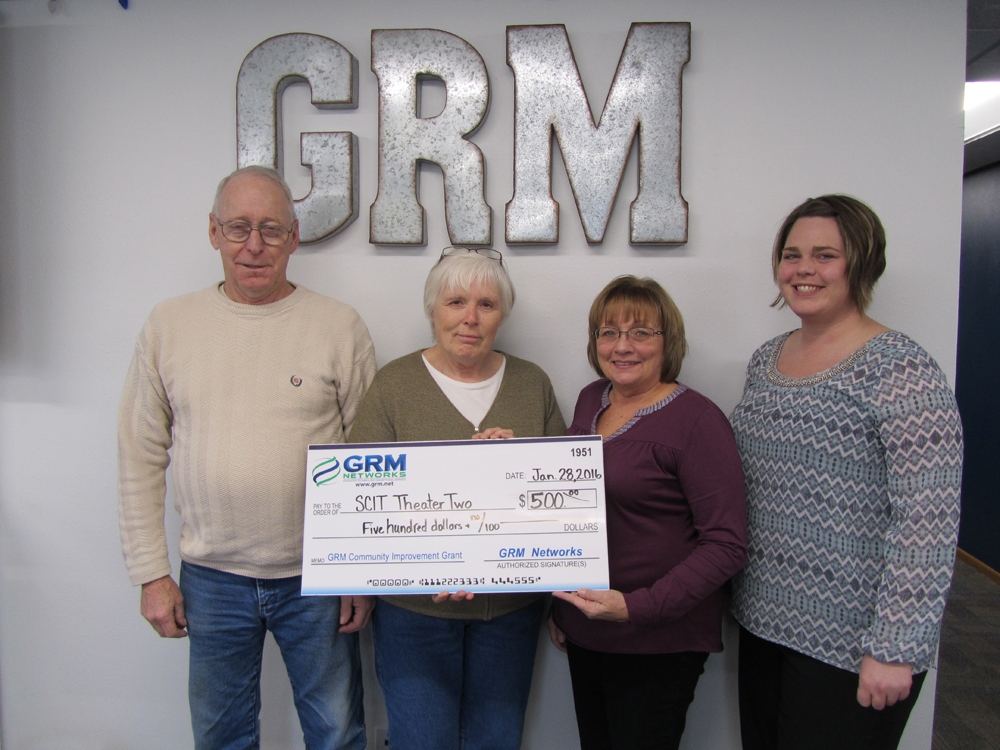 Pictured from left to right: Joe Stephens, Marcia Stephens, GRM Networks® CSRs Linda Vinson and Melanie Shields.
